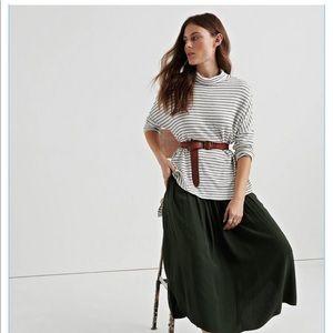 Lucky Brand Long sleeve striped tunic tee